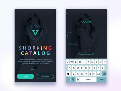 Shopping App button dark e commerce login uiux fashion