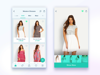 Shopping app detail screen home e commerce screen detail uiux fashion