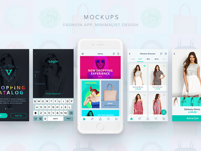 Mockups invision prototype shopping app layout mockups app visual design design ui fashion app ecommerce app ios