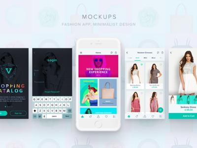 Mockups invision prototype shopping app layout mockups app visual design design ui fashion app ecommerce app ios