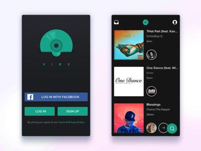 Music app uiux app music design login sign in ui