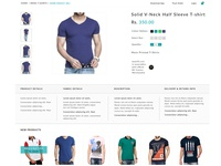 Product Page Details for a shopping site
