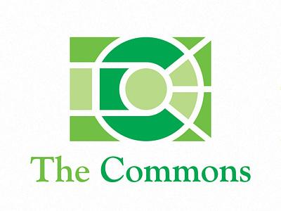 The Commons illustrator minimal flat icon design illustration vector type mark branding identity journal university logo
