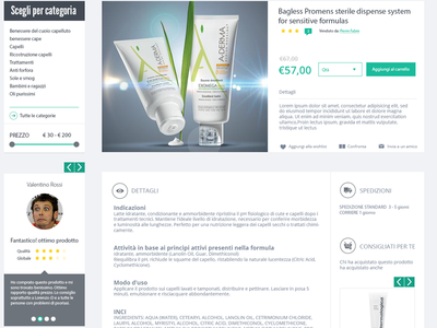 Detail product page detail product page magenta shop ecommerce website design