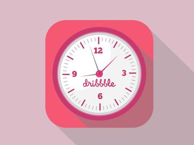 Ios Dribbble Clock ios clock icon time dribbble flat flat design