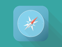 Safari iOS Flat Icon