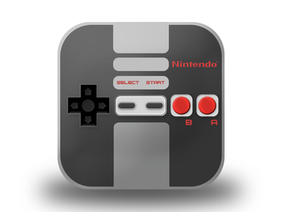 Nes 8 bit pad icon nes icon nintendo 8 bit real pad icondesign controller videogame retrogames apple iphone