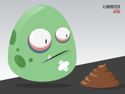 X - Monster / Grin monsters grin illustrator design little funny xmonster kids branding character cute