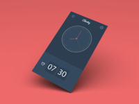 Clocky, a simple alarm clock for iOS