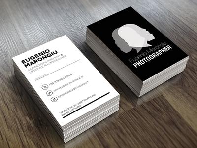 Business card business card design mockup photographer