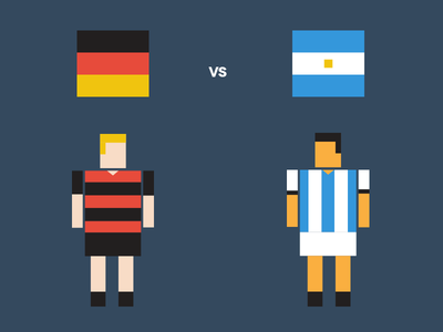 Germany vs Argentina germany argentina flat pixel final world cup