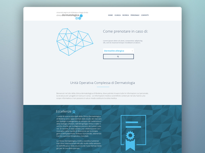 Home page home website flat design