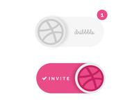 Dribbble invite giveaway 2015 invite dribbble giveaway toggle button ui