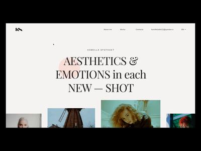KS — Portfolio Website for Photographer minimal website web web-design portfolio site portfolio photographer motion animation ux uidesign ui design