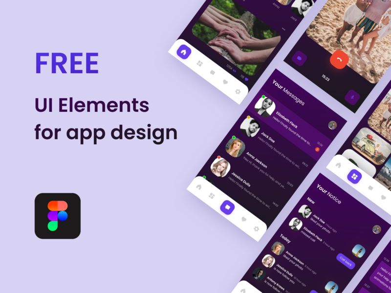 Free UI Elements for App Design uiux free figma figma free ui free ui kit free app app design app ui ui elements uidesign ui freebie freebies free