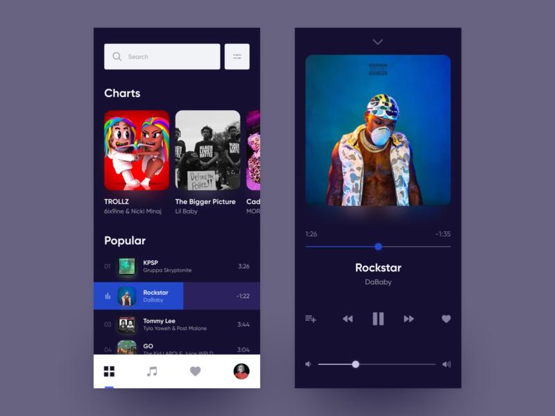 Music App uiuxdesign uiux app concept app ui elements clean music app music app design app ui uidesign ui ux design