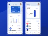 Finance App ux uiux ui finance financial banking mobile banking 2020 trends clean design clean dashboard ui dashboad finance application finance app