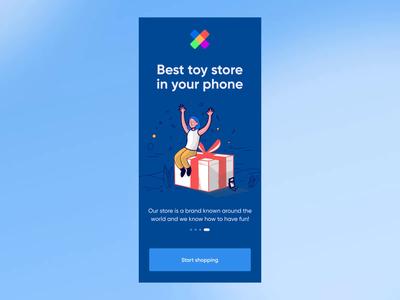 Toy Store Animation Practice animation design minimal toy store app ui elements ux uidesign design ui 2020 trends animation practice after effects aftereffects
