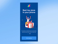 Toy Store Animation Practice animation design minimal toy store app ui elements ux uidesign design ui 2020 trends animation practice after effects aftereffects