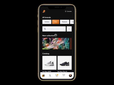 Shoe Store App protopie5.0 app design 2020 trend minimal animation app ui elements ux uidesign ui weeklywarmup prototype animation animation design 2020 trends