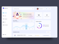 skilltron.io — Course Web App design ux web-design web ui elements clean web app design web app course course app dashboard ui dashboard design dashboard 2020 trends