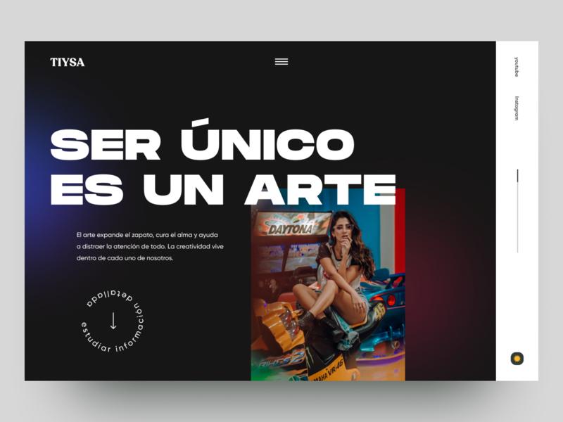 TIYSA - Collaboration Agency webdesign website concept website design typography clean minimal website web web-design 2020 trends ui elements uidesign ui design
