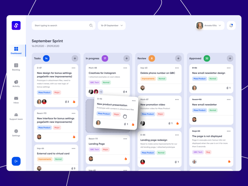 Task Management Dashboard 2020 trends app web-design web app web design task management task manager dashboard design dashboard ui dashboard app dashboad uidesign ui design