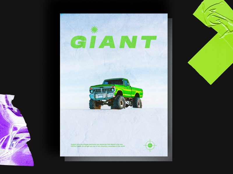 GIANT - Poster 002 ux ui elements uidesign ui poster a day posters poster art 2020 trends poster design poster illustration logo branding design