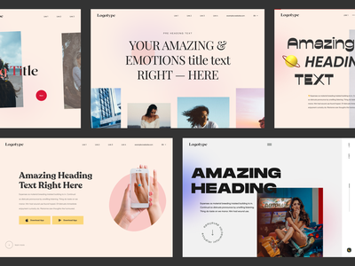 Free Website Headers web-design ux ui elements uidesign ui design header exploration header design header headers website design web design web free freebies freebie