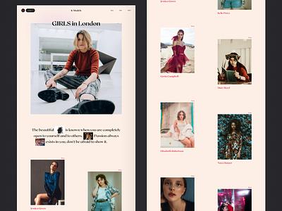 K Models Categories agency model photographer 2020 trends app website minimal web web-design ux ui elements uidesign ui design