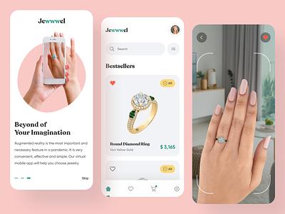 Jewwwel App clean 2020 trends jewelery jewelry application app design vr app vr ar app ar app ux ui elements uidesign ui design