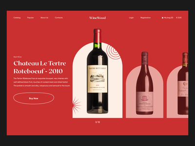 WineWood Shop website concept website design e-comerce wine 2020 trends app website minimal web web-design ux ui elements uidesign ui design