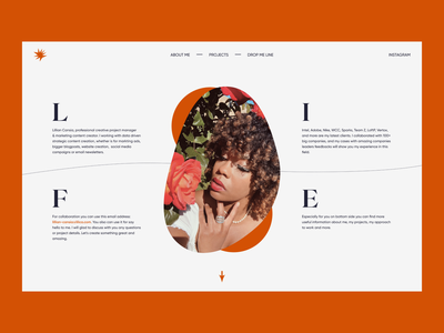 Lillian Cansia — Portfolio Concept website design layout grid layout grid portfolio web design webdesign typography 2021 trend 2020 trends app website minimal web web-design ux ui elements uidesign ui design