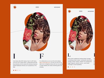 Lillian Cansia — Animation webdesign responsive website portfolio clean animation after effects responsive design responsive animation 2021 trend 2020 trends app website minimal web web-design ux ui elements uidesign ui design