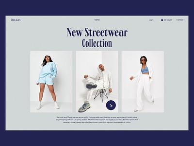 Des Lan E-commerce wear e-shop shop fashion app model fashion e-commerce ecommerce 2021 trend 2020 trends app website minimal web web-design ux ui elements uidesign ui design