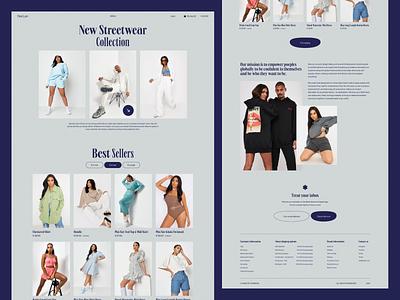 Des Lan — Homepage web design webdesign e-commerce website shop art direction fashion online store e-commerce 2021 trend 2020 trends app website minimal web web-design ux ui elements uidesign ui design