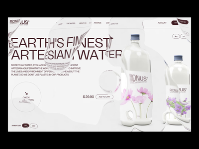 RONUS® company water motion graphics 2021 trends 2020 trends clean motion ui animation after effects animation branding logo illustration web web-design ux ui elements uidesign ui design