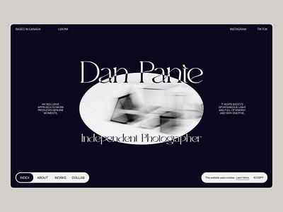 Dan Pante 001 folio modern 2021 trends 2020 trends typography layout creative clean photographer photographer portfolio personal personal website portfolio web web-design ux ui elements uidesign ui design