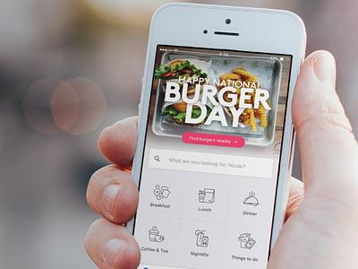 Foursquare City Guide Homepage search product design