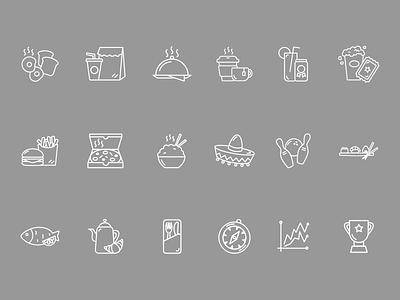 Foursquare Icons vector branding icon illustration