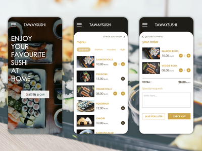 Sushi delivery app daily ui sushi app food app food delivery app sushi dailyui30 app concept app app ui dailyui design app design ui ui deisgn
