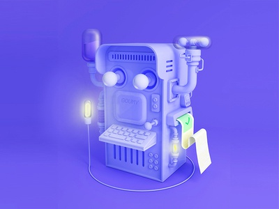 Printer 4d cinema printer c4d 3d