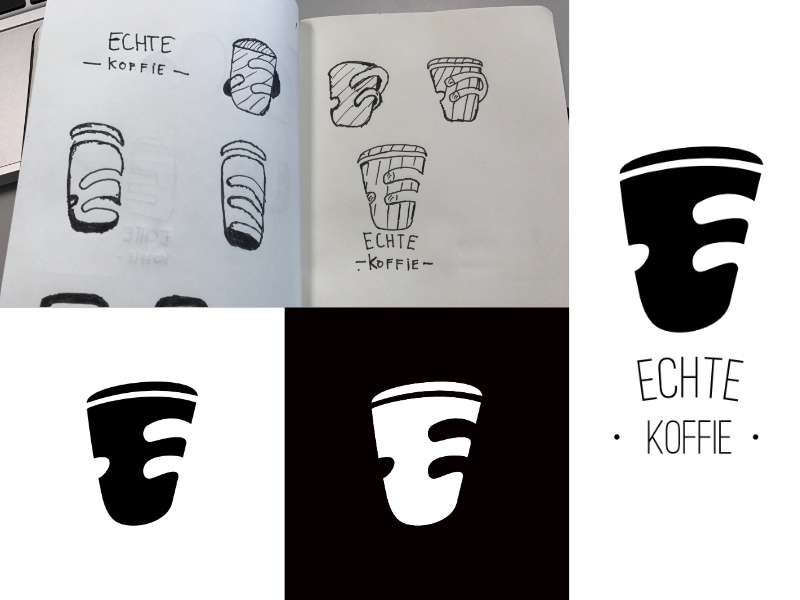 COFFEE LOGO negative space sketch fingers whitespace logo logo coffee cup whitespace cup coffee