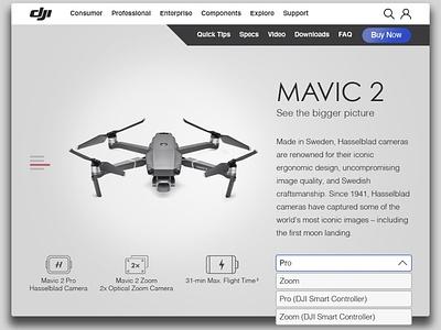 Mavic 2 Drone ecommerce websitedesign website webdesign design dailyui