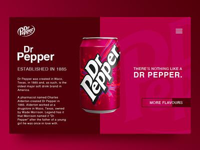 Dr Pepper branding websitedesign website webdesign design dailyui
