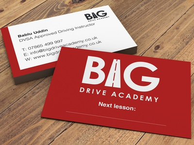 Big Drive Academy business card graphicdesign design business card design business cards business card businesscard branding design branding