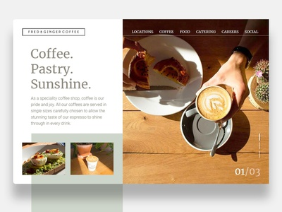 Daily UI - Coffee shop coffee websitedesign website webdesign design dailyui