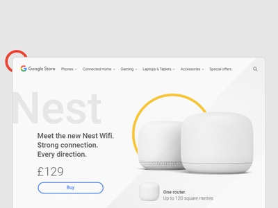 Google Nest WiFi ecommerce websitedesign website webdesign design dailyui