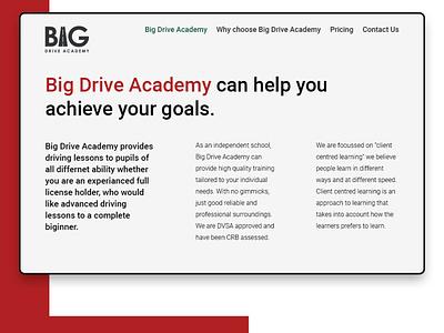 Big Drive Academy - Website design idea websitedesign website webdesign design dailyui