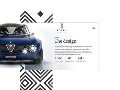 Daily UI - Totem Automobili exterior websitedesign website webdesign design dailyui